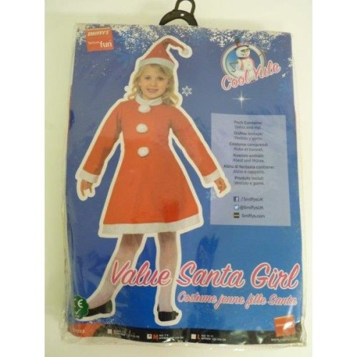 Medium Red Santa Girl Costume