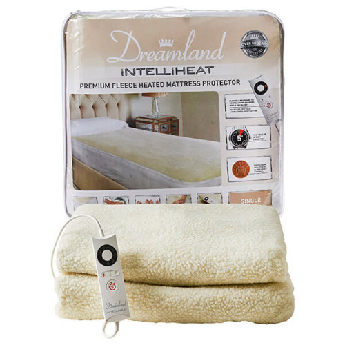 Dreamland Intelliheat Premium Fleece Heated Mattress Protector Single