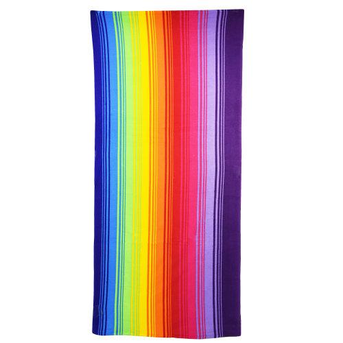 Rainbow Microfibre Beach Towel