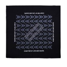 Iron Maiden A Matter Of Life And Death Official New Black Bandana (22in x 22in) -  iron maiden bandana matter life death official 22in new black x