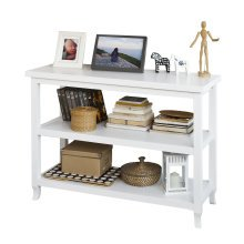 SoBuy® FSB06-W, Console Table Side End Table in 3 Shelves, White