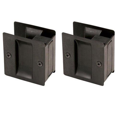 Pocket Door Hall & Closet Pull, Oil Rubbed Bronze - Pack of 2