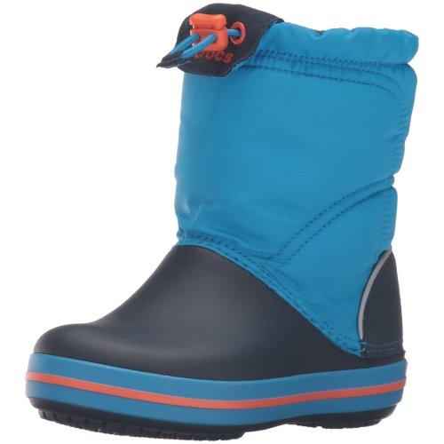 Crocs Crocband LodgePoint Boot Kids Snow, Blue (Ocean/Navy), 13 UK Child (C13 US)