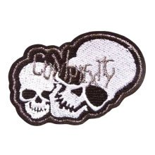 2 PCS Embroidery Designs Skull Custom Patches Sticker Applique-02
