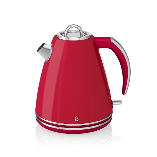 Swan Jug Kettle 360-degree Rotational Base 1.5Litre 3000W - Red (SK24030RN)