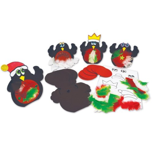 Springboard Stained Glass Silhouette Stars Christmas Craft Activity Pack of 30