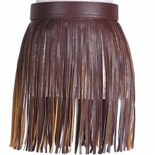 Women Fringed Skirt Waistband Closure Decorative Tassel Belt