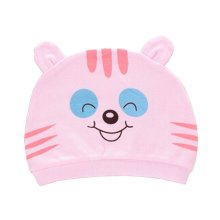 Set of 3 Cute Baby Hats Infant Caps Newborn Baby Cotton Hat Tiger Pink