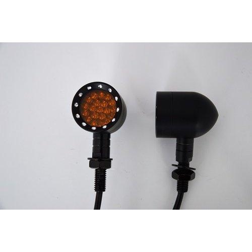 Solid Aluminium Black Aluminium LED Motorcycle Motorbike Indicators