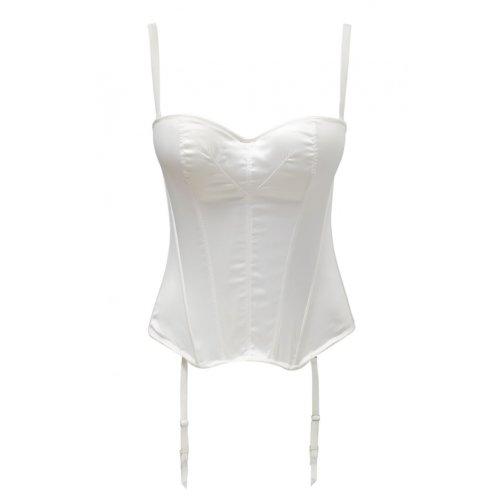 Panache 5437 Masquarade Tiffany Underwired Strapless Multiway Basque Ivory Off-White 28G