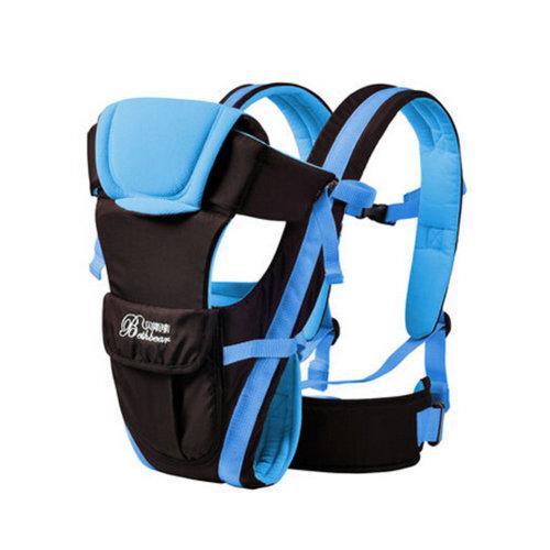 Soft Polyester Baby Carrier Best Child Baby Holding Belt Cotton belt Blue