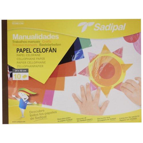 Sadipal 5978 Glossy Cellophane Craft Paper Pad 10 Sheets