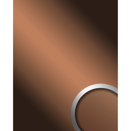 WallFace 17273 DECO COPPER Wall panel self-adhesive Mirror glossy brown 2.6 sqm