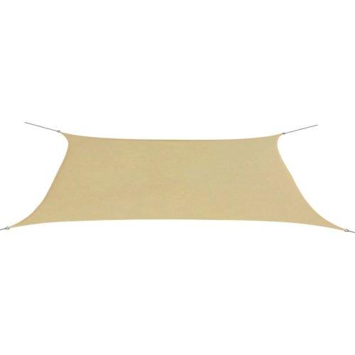 vidaXL Sunshade Sail Oxford Fabric Rectangular 4x6 m Beige