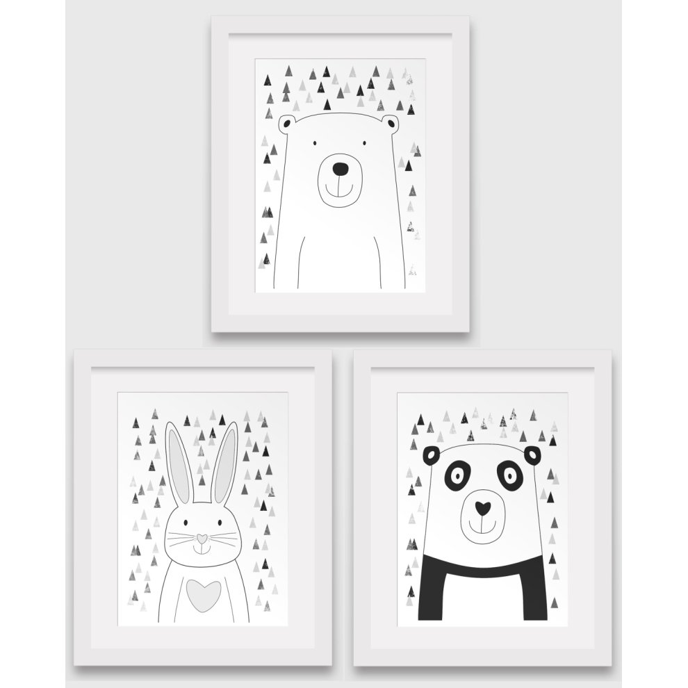Unframed Scandinavian Print Bear Nursery Art 8 x 10 inches Nursery Print