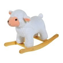 Homcom Kids Toy Rocking Ride on Animal Wooden Riding Traditional Rocker (white Sheep)