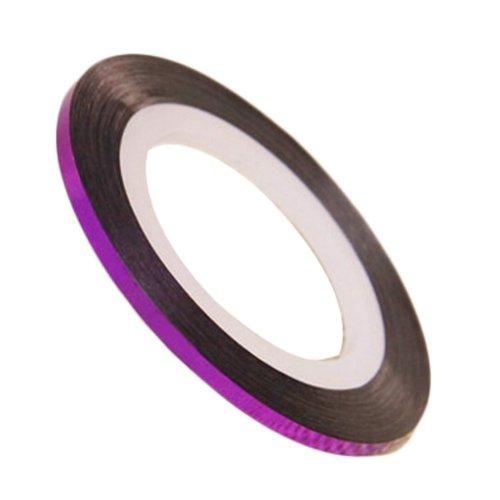 20 Rolls 2mm DIY Striping Tape Line Nail Art Decoration Sticker, Purple