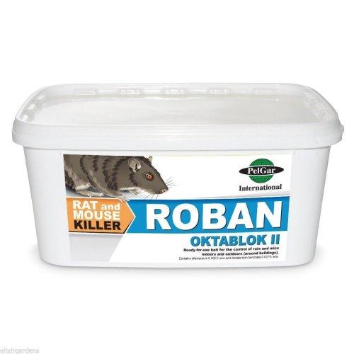 Roban Oktablok II Cubes Rat Mouse Non-Professional Use Bait Killer 1kg