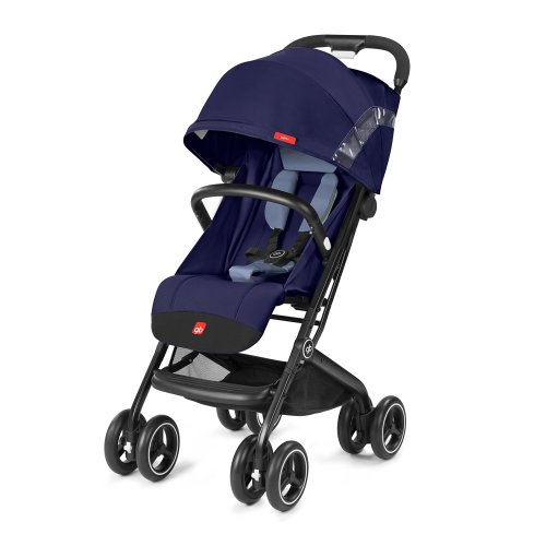 gb Gold Compact Pushchair Qbit+, Luxury Traveller, 3-in-1 Travel System, from Birth to 17 kg (Approx. 4 Years), Sapphire Blue