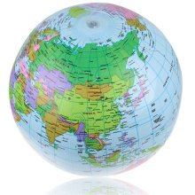 40cm Inflatable World Globe Map Balloon Beach Ball Teach Education Geography Toy