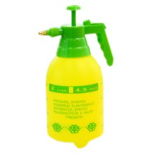Yellow Air Pressure Watering Can Garden Tool Cleaning Supply, 2 L, 5.1x5.1x11.8""