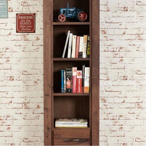 Mayan Walnut Furniture Tall Narrow Bookcase