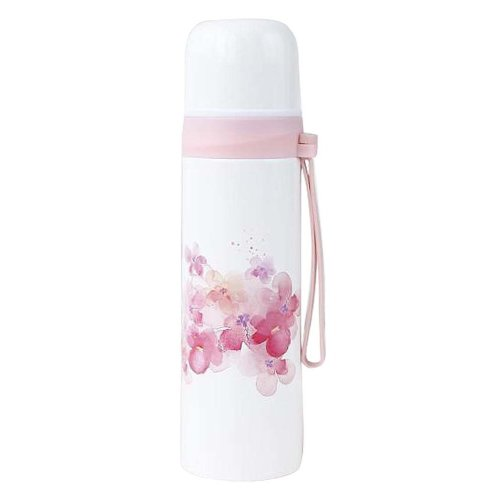 Cute Girl Style Insulation Cup High Capacity Student Cups 500ML-Flower