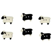 Sew Through Sheep - Novelty Craft Buttons & Embellishments by Dress It Up