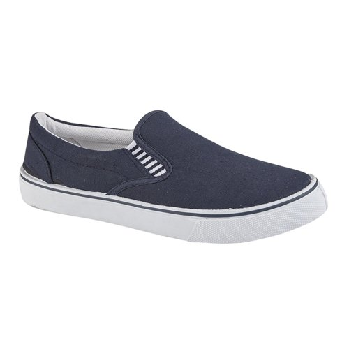 Dek Boys Canvas Casual Yachting Shoe Blue 4 UK