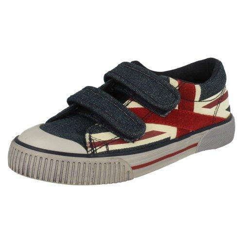 Boys Startrite Canvas Shoes Flag - Denim Canvas - UK Size 11.5F - EU Size 30 - US Size 12.5