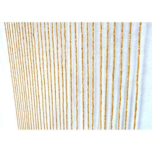 Beaded Door Curtain String Curtain Blinds Fly Divider BAMBOO WOOD *PLAIN*