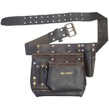 Heavy Duty Multi-pocket Tool & Nail Pouch -  tool oil tanned heavy duty nail pouch pocket multi leather professional new