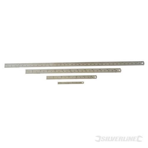 600mm Silverline Steel Rule - Mt68 Ruler -  steel rule 600mm silverline mt68 ruler