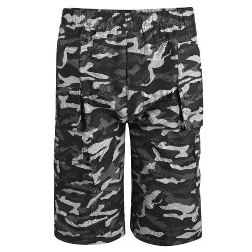 Boys Camo Dot Print Multipocket Shorts