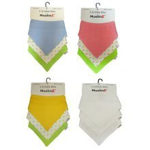 MuslinZ 3pk Cotton Dribble Bibs