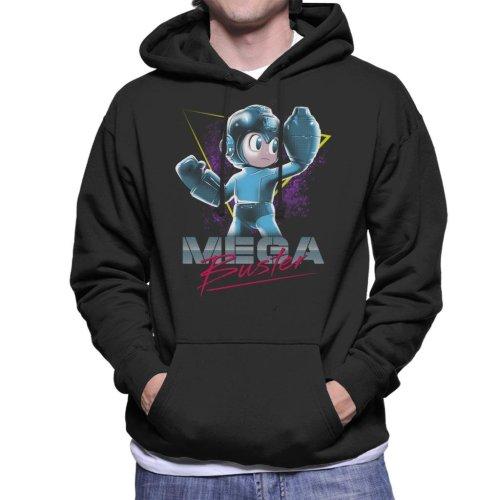 Mega Man Buster Retro 80s Men's Hooded Sweatshirt