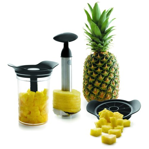 Lacor Set Pineapple Cutter-Peeler W/Canister