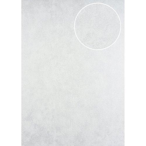 ATLAS HER-5137-1 Plaster look wallpaper shimmering oyster white 7.035 sqm