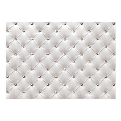 White Elegance Quilt Effect Wallpaper Mural