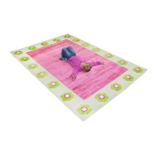 Kids Childrens Rug Play Mat in Flowerpatch Pink design 134 x 180cm