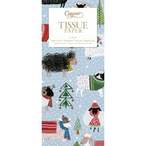 Warm and wooly Christmas Jumpers and Sheep Caspari Tissue Wrap 4 sheets of 70 x 50 cm luxury tissue wrapping paper