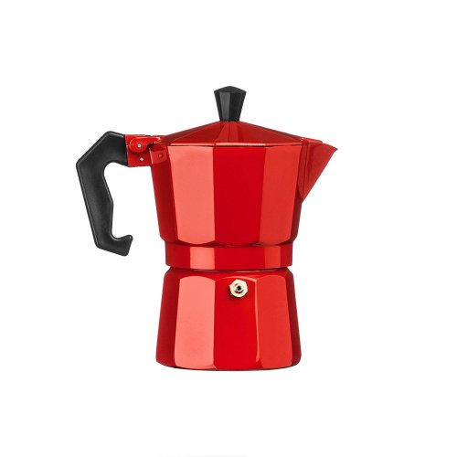 Red 3-Cup Espresso Maker