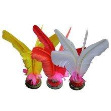 10 Pcs Professional Fitness Feather Kick Shuttlecock Chinese Jianzi Random Color