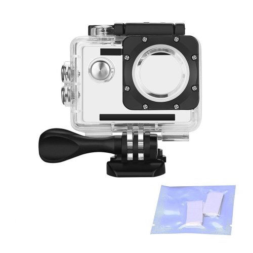 Vemico Waterproof Case Housing for Action Camera AKASO EK5000 EK7000/DBPOWER X1/Lightdow LD4000/Campark 4K/WiMiUS Q1 Q2/SJ4000 with Anti-fog...