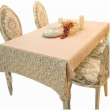 Decent Modern Style Tablecloth Changeable Flower Table Cover(120x160 CM)-Coffee