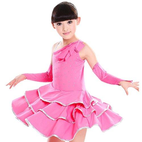 Performance Dress With Gloves Girls Dancewear ROSE (120CM Height)