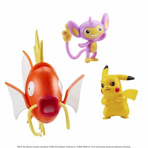 Pokemon Battle 3 Figure Set W3 - Magikarp, Aipom & Pikachu