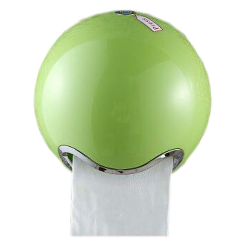 Creative Toilet Paper Roll Holder Tissue Box with Cover Paper Frame Roll Paper Box, Spherical Green