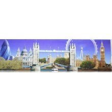 London Fridge Magnet Photographic Skyline Collage Souvenir Gift Cityscape Montage Long