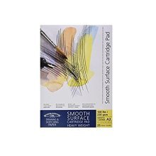 W&n Smooth Surf Cart Pad 220gsm A3 -  winsor newton smooth cartridge a3 surface pad pads 25 sheets 220gsm gummed